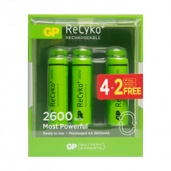 4+2 AA GP Recyko+ 2600 in blister - 2600mAh