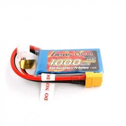 Gens ace LiPo 2S 1000mah 7.4V 25C pack with XT60 Plug