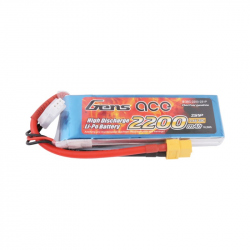 Gens ace 2200mAh 7.4V 25C 2S1P Lipo Battery Pack with XT60 Plug