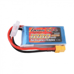 Gens ace 1000mAh 3S1P 11.1V 25C Lipo Battery Pack with XT60 Plug