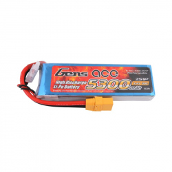 Gens ace 5300mAh 7.4V 30C 2S1P Lipo Battery Pack with XT90 Plug