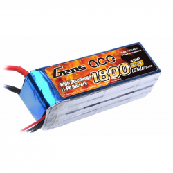 Gens ace 4S 1800mah Lipo 14.8V 40C for RC Plane