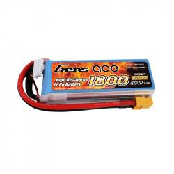 Gens ace 1800mAh 18.5V 45C 5S1P Lipo Battery Pack with XT60 plug