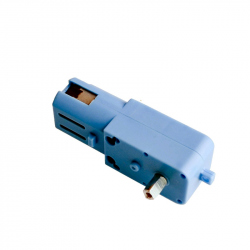 Blue Gearmotor with Metal Gears and Extended Axis (1:90, 110 rpm, 3 - 6 V)