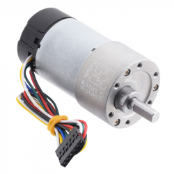 19:1 Metal Gearmotor 37Dx68L mm with 64 CPR Encoder (Helical Pinion)