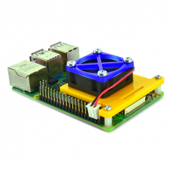 Raspberry Pi 4 Fan Mounting Bracket (Yellow and Blue)