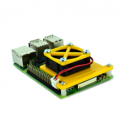 Raspberry Pi 4 Fan Mounting Bracket (Yellow)