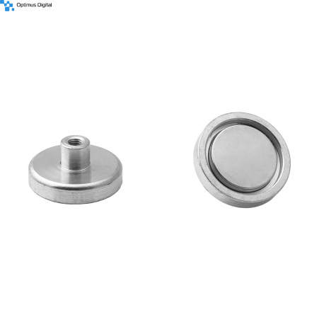 Pot magnet 32x7 mm with internal thread M5