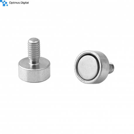 Pot magnet with threaded stem 10x4.5xM4