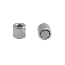 Pot Magnet with Internal Thread 6x6xM3