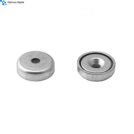 Pot magnet 16x6.6/3.5x4.5 mm countersunk hole