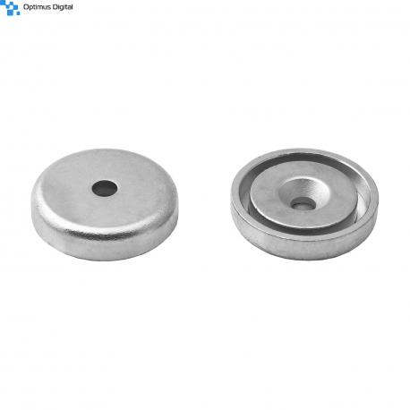 Pot magnet 32x11/5.5x7 mm countersunk hole