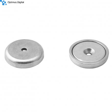 Pot magnet 40x10,6/5,5x8 mm countersunk hole