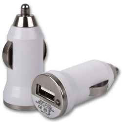 USB Car Charger (White)