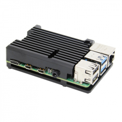 Heatsink Case for Raspberry Pi 4 (Black Color, without Fan)