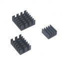 Aluminum Heatsink Set for Raspberry Pi 4 (Black Color)