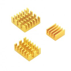 Aluminum Heatsink Set for Raspberry Pi 4 (Gold Color)