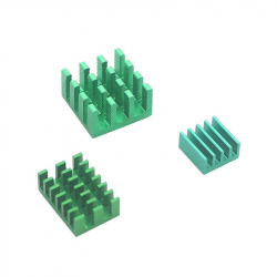 Aluminum Heatsink Set for Raspberry Pi 4 (Green Color)