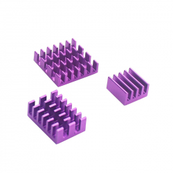 Aluminum Heatsink Set for Raspberry Pi 4 (Purple Color)