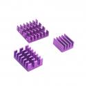 Aluminum Heatsink Set for Raspberry Pi 4 (Purple Color)