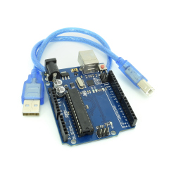 Development Board Compatible with Arduino UNO R3 (ATmega328p + ATmega16u2) + 30 Cm Cable