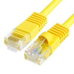 High Quality CAT.5e 1 m Yellow Cable