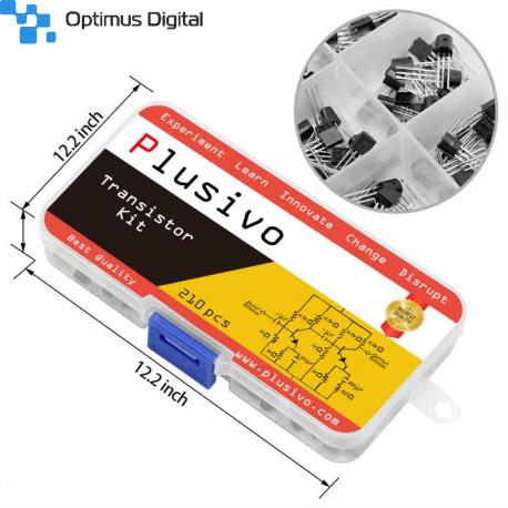 Plusivo Kit de Tranzistoare Bipolare Asortate cu Rezistoare Bonus (210 buc)