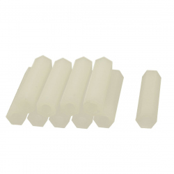 M2 White Plastic Hexagonal Pilar (7 mm)