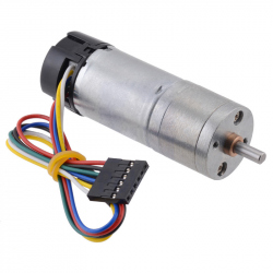 4.41 Metal Gearmotor 25Dx63L mm HP 6V with 48 CPR Encoder