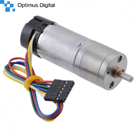 99:1 Metal Gearmotor 25Dx69L mm HP 6V with 48 CPR Encoder
