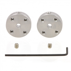 Pololu Universal Aluminum Mounting Hub for 3mm Shaft, M3 Holes (2-Pack)