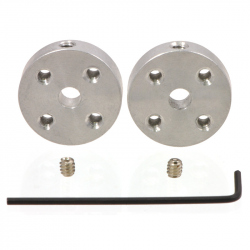 Pololu Universal Aluminum Mounting Hub for 4mm Shaft, No.4-40 Holes (2-Pack)