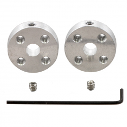 Pololu Universal Aluminum Mounting Hub for 5mm Shaft, No. 4-40 Holes (2-Pack)
