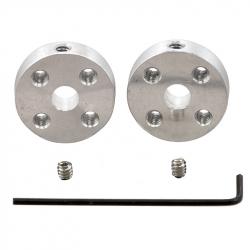 Pololu Universal Aluminum Mounting Hub for 5mm Shaft, M3 Holes (2-Pack)