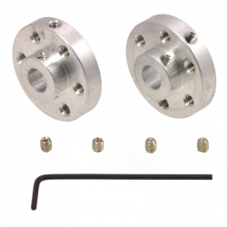Pololu Universal Aluminum Mounting Hub for 6mm Shaft, No. 4-40 Holes (2-Pack)