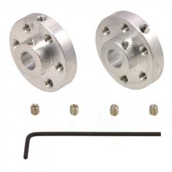 Pololu Universal Aluminum Mounting Hub for 1/4″ (6.35mm) Shaft, M3 Holes (2-Pack)
