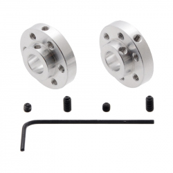 Pololu Universal Aluminum Mounting Hub for 8mm Shaft, M3 Holes (2-Pack)
