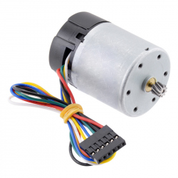 12V Motor with 64 CPR Encoder for 37D mm Metal Gearmotors (No Gearbox, Helical Pinion)