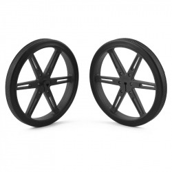 Pololu Wheel 80×10mm Pair - Black