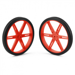 Pololu Wheel 80×10mm Pair - Red