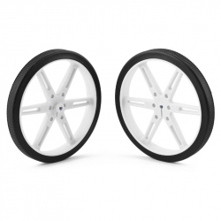 Pololu Wheel 80×10mm Pair - White