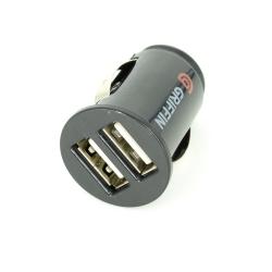 Incarcator USB, Auto, Dual, Rotund, Negru