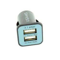 Incarcator USB, patrat, negru