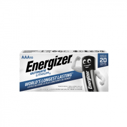 Pack of 10 R03 Energizer Ultimate L92 AAA Lithium battery