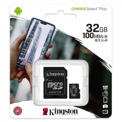 microSDHC 32GB Kingston Canvas Select +adapter