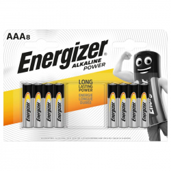 Pack of 8 LR03 Energizer Alkaline Power battery