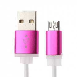 Rose Red Micro USB Cable 1 Meter