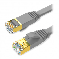 Flat CAT7 STP Patch Cable 1 m Gray