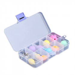Plastic Box with 36 Compartments (17.5 x 17.5 x 4.2 cm)
