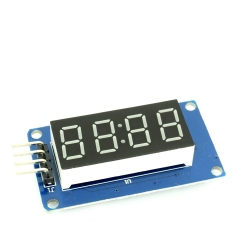 Modul Display LED cu interfata seriala ( chip TM1637 )